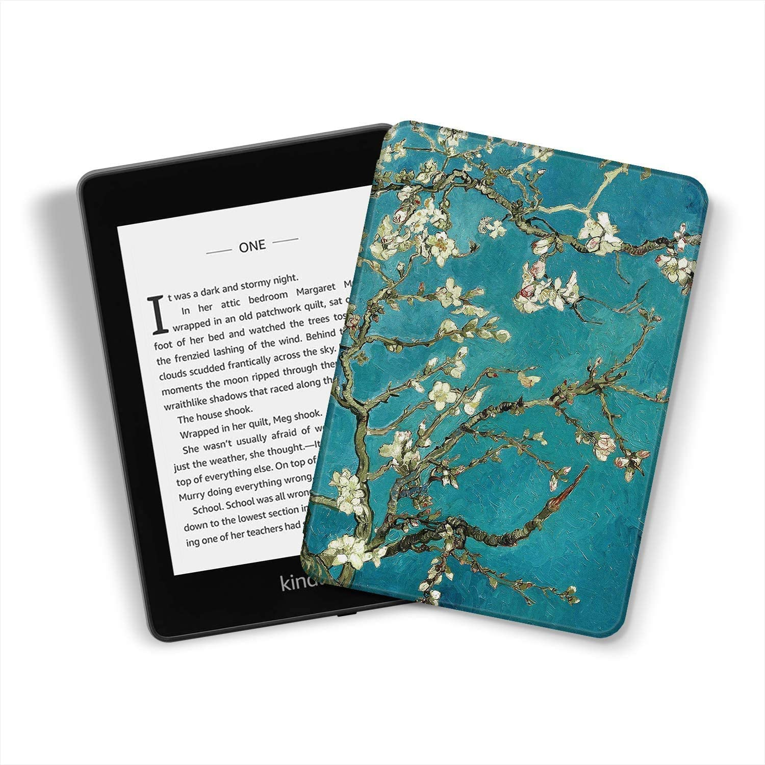 Library Kindle Paperwhite-4 Fits All Paperwhite Generations Prior to 2018 Water-Safe Case for Kindle Paperwhite PU Leather Smart Cover with Auto Wake//Sleep
