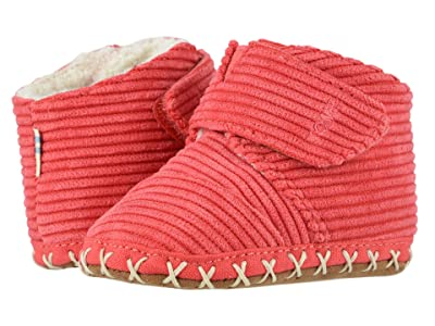 TOMS Kids Cuna (Infant/Toddler) (Red Corduroy) Kids Shoes