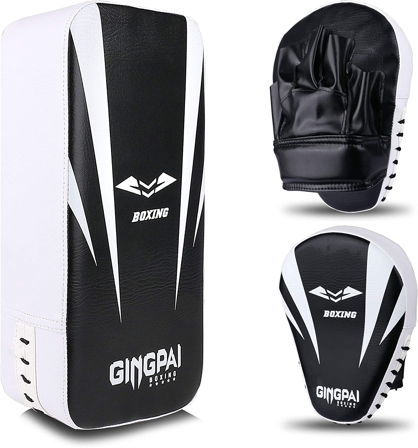2-in-1 Punching Max 68% OFF Mitts Kick Denver Mall Pack Pads Focus Ta Set Boxing