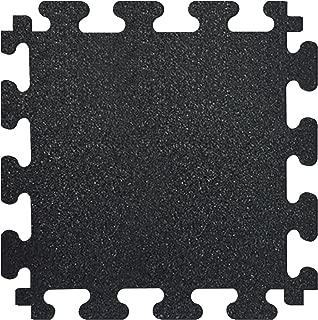 FANMATS MM7010 Titan Tile Black 18 in. x 18 in. Rubber Tile Flooring (6-Pack), Black, 18 Inch x 18 Inch, 0 ounces