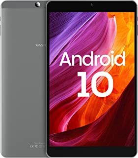 Tablet 8 Zoll Android 10, VASTKING KingPad SA8, 1920x1200 FHD IPS, 3GB RAM+32GB ROM, 512GB Erweiterbar, 13MP+5MP Kamera, Face ID, 5G-WiFi, GPS, Octa Core, Blaulichtfilter, Metallgehäuse, Silbergrau