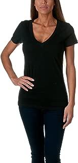 Next Level Apparel Women's CVC Deep V-Neck T-Shirt