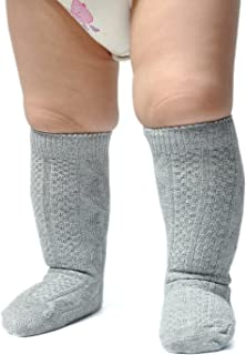 Unisex-Baby Seamless Cable Knit Knee High Socks (Pack of 3/6)