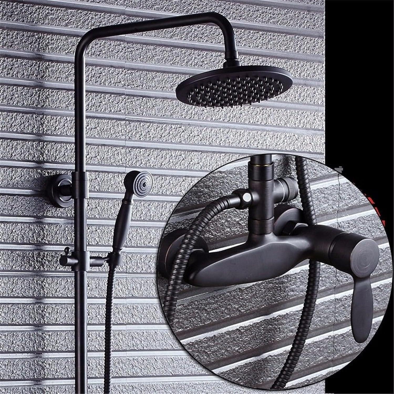 ETERNAL QUALITY Badezimmer Waschbecken Wasserhahn Messing Hahn Waschraum Mischer Mischbatterie Tippen Sie auf Antike Badezimmer Wand Dusche Sprinkler Armaturen Dusche Arm