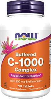 NOW Supplements, Vitamin C-1000 Complex with 250 mg of Bioflavonoids, Buffered, Antioxidant Protection*, 90 Tablets