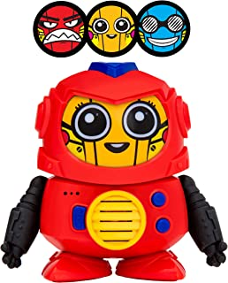 Power Your Fun Tok Tok Voice Changer Robot Toys - Mini Talking Robots for Kids with 3 Robot Voices and Faces, for Ages 3 and Up (Red)