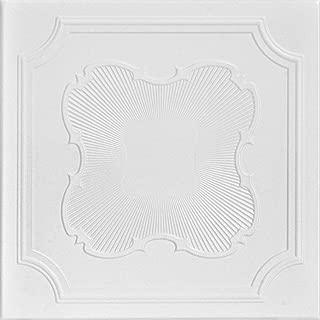 A la Maison Ceilings 1212 Coronado - Styrofoam Ceiling Tile (Package of 8 Tiles), Plain White