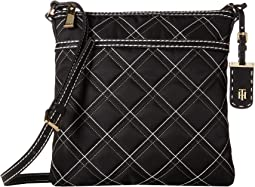 Julia - Large North/South Crossbody - Triple Quilt Nylon