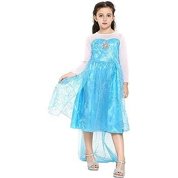 Katara 1008 - Vestido de Princesa Elsa Disfraz Frozen para Niñas 7 ...
