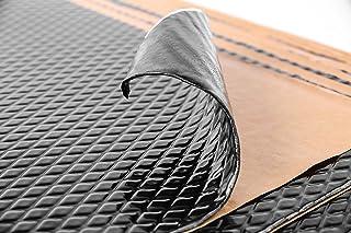 Noico Zwart 2 mm 0,95 m² zelfklevende anti-rammel trillingsdempende mat, auto akoestisch isolatie (lawaaireductie en gelui...