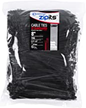 Cambridge ZipIts Cable Ties 8 Inch 75 Lb Standard Duty Zip Ties 1000 Pieces UV Black UL Listed Contractor Quality Industrial Strength