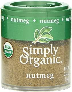 Simply Organic Nutmeg Ground Organic, Mini Spice, 0.53 Ounce (Pack of 6)