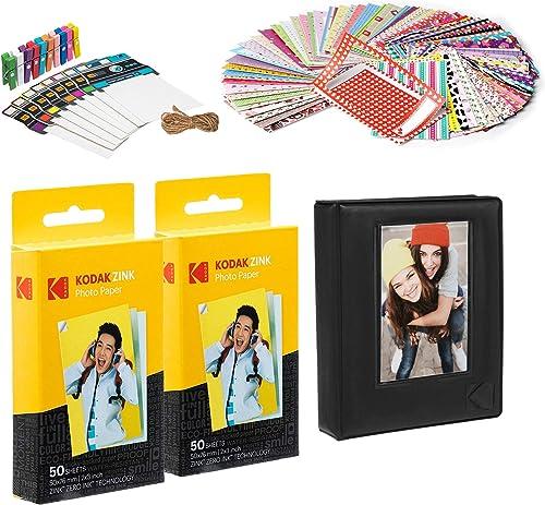 new arrival Kodak 2x3ʺ Premium Zink online sale Paper 100 Pack with Photo online sale Album outlet online sale