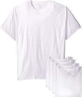 Fruit of the Loom Men's White Crew T-Shirt, White, XXX-Large (Pack of 5)