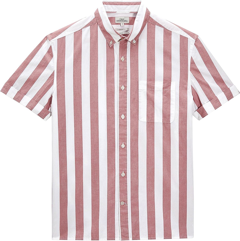 next Hombre Camisa Rayas Anchas Regular XXXXL: Amazon.es: Ropa