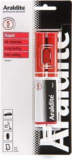 Araldite 高速強力接着剤   5分速設定 2パートエポキシ接着剤   溶剤フリー プロフェッショナルグレードの強度 多目的使用 24ml 注射器