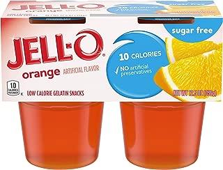 JELL-O Orange Sugar Free Gelatin Dessert (12.5 oz Package, 4 Cups)