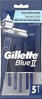 شفرات الحلاقة جيلايت بلو II للاستخدام مرة واحدة للرجال، 5 قطع