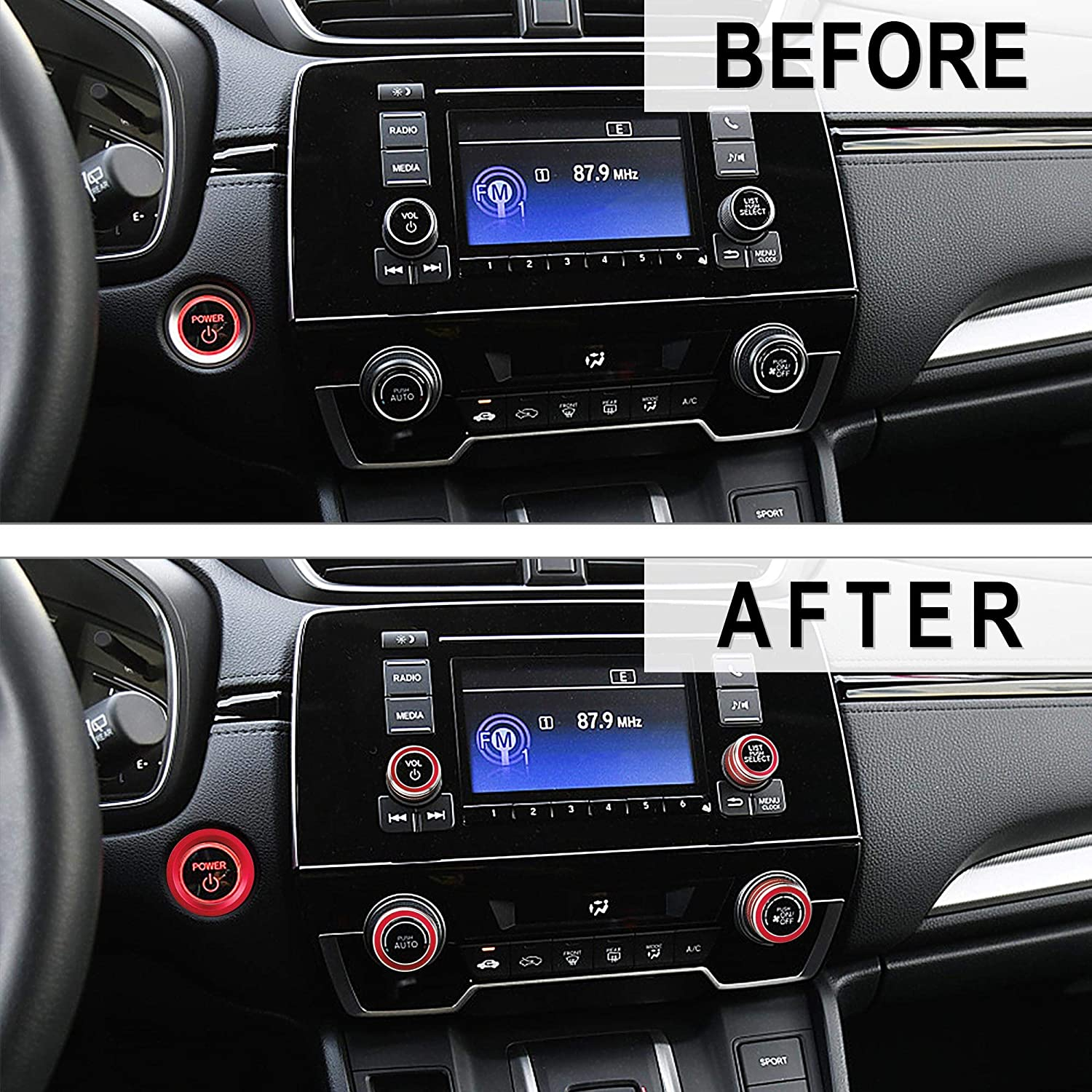 Blue TOMALL 4pcs Aluminum Centre Console Cover Compatible with ...