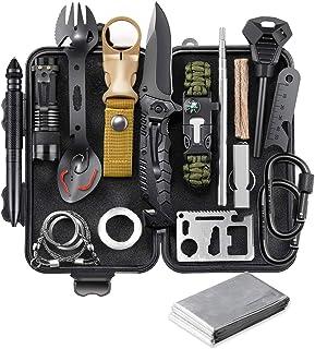 EILIKS Survival Gear Kit, Emergency EDC Survival Tools 24 in 1 SOS Earthquake Aid Equipment, Cool Top Gadgets Valentines B...