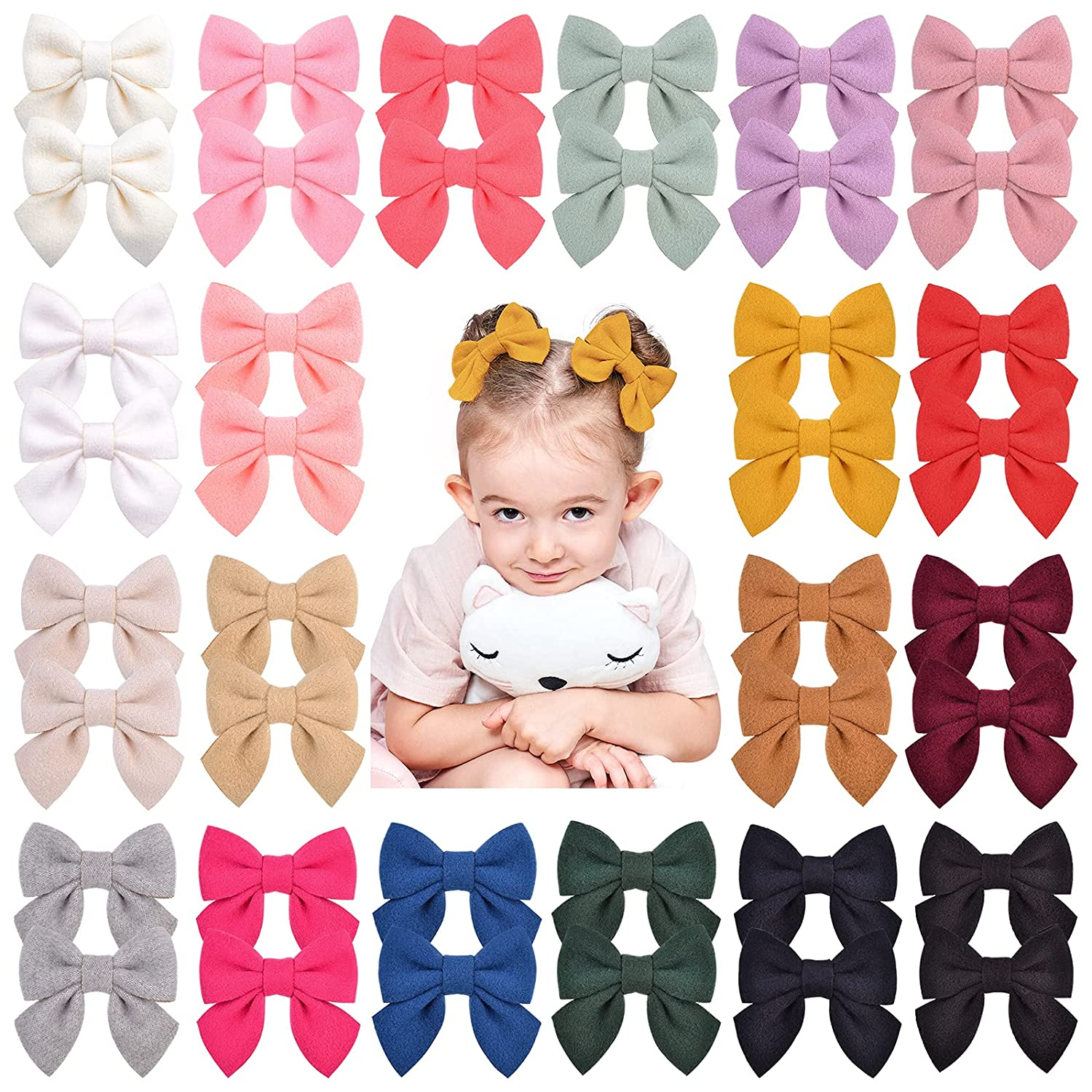 40PCS 20Colors 2.8 Inches Baby Girls Long Beach Mall Bows Alligator 100% quality warranty C Clips Hair