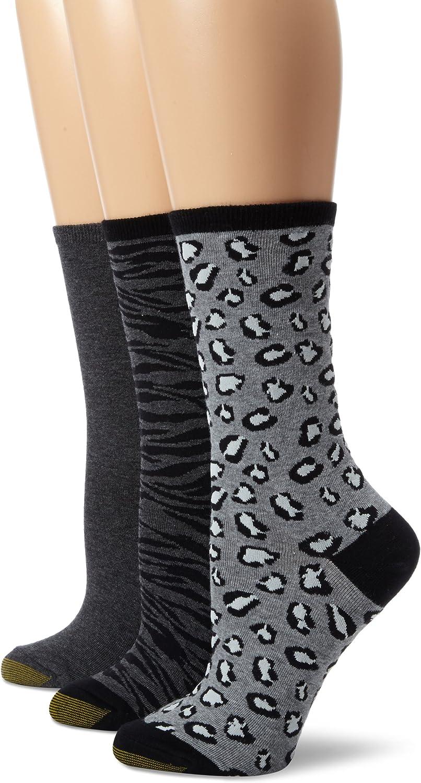 Baltimore Mall Gold Toe Women's Animal Print 3 Fashion Pair Pack Socks Dress Ranking TOP13