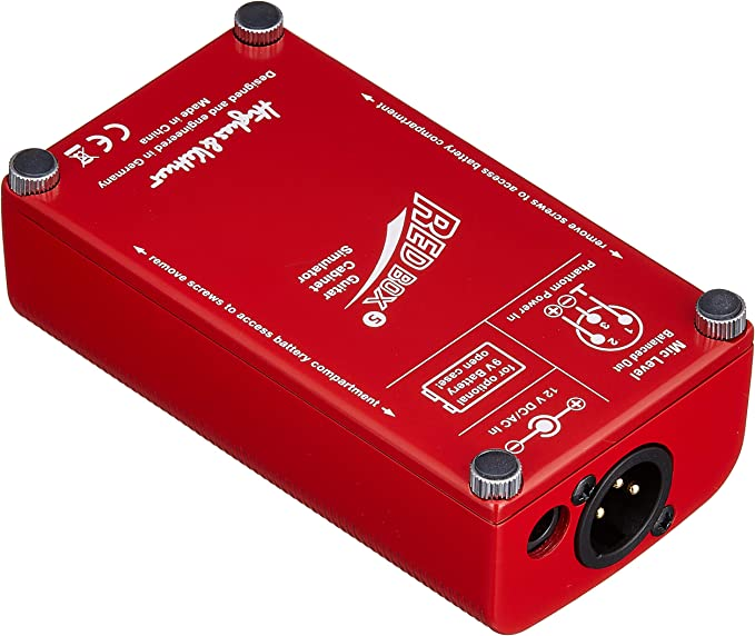 Hughes /& Kettner Red Box 5 Guitar Cabinet Simulator with 6 Patch Cable R Angle 2-Pieces Bundle