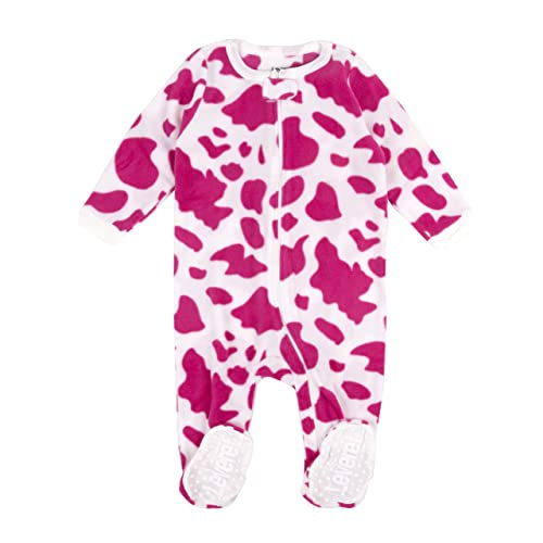 7e515a1030fc62 Leveret Fleece Baby Girls Footed Pajamas Sleeper Kids & Toddler Pajamas (3  Months-5