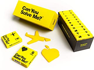 Can You Solve Me? Tangram Puzzle Set Fun Brain Games for Kids & Adults, Yellow, 999