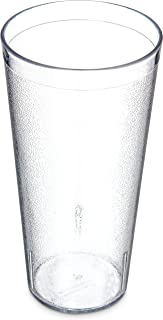 Carlisle 522407 BPA Free Stackable Shatter-Resistant Plastic Tumbler, 24 oz., Clear (Pack of 72)