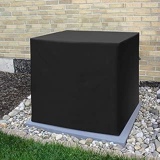 SunPatio Patio Air Conditioner Cover 34 Inch, Heavy Duty 600D Square Window AC Ptotector, 34