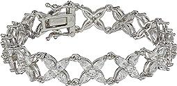 Floral Marquis CZ Link Bracelet