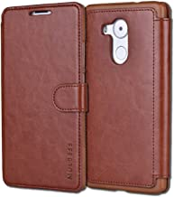 Huawei Mate 8 Case,Mulbess [Layered Dandy][Coffee Brown] - [Card Slot][Flip][Slim Fit] - PU Leather Wallet Case For Huawei Mate 8