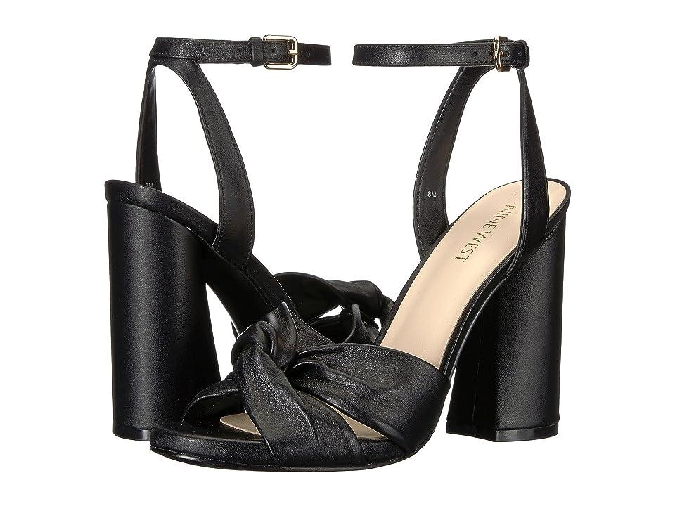 Nine West Lavilah Heel Sandal (Black Bella Nappa) High Heels