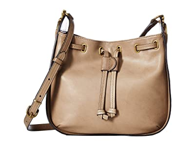 Frye Ilana Small Crossbody (Taupe) Cross Body Handbags
