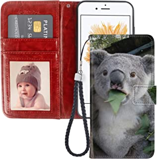 Australia Koala iPhone 5 5S SE Wallet Case PU Leather Cover and TPU Protective Phone case with Card Holder Magnetic Folio Flip iPhone 5 5S SE Case Wallet