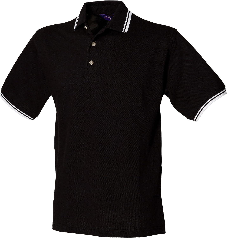 Ranking TOP12 Henbury Mens Classic Tipped Cuff Shirt Polo Max 87% OFF Collar