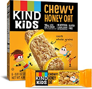 KIND Kids Granola Chewy Bar, Honey Oat, 6 Count (Pack of 8)