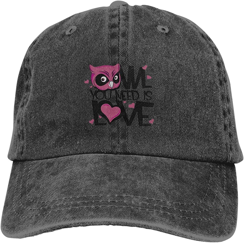 You Need is Love Unisex Adjustable Cowboy Hat Adult Cotton Baseball Cap