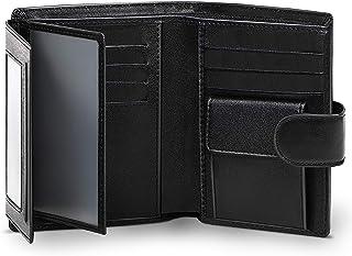 wilbest® Billetera Hombre de Piel, Cartera Monedero Hombre en Formato Retrato con Protección RFID, 13 Ranuras para Tarjeta...