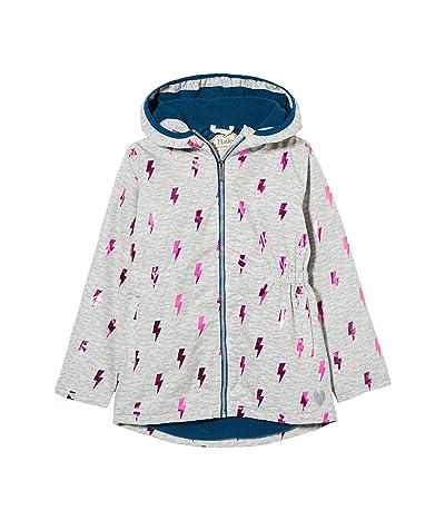 Hatley Kids Glitzy Bolts Microfiber Rain Jacket (Toddler/Little Kids/Big Kids) (Grey) Girl