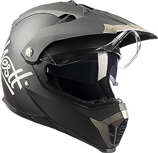 Westt Cross · Casco Moto Estilo Motocross Trial con Doble Visera · Cascos de Moto Niños Off-Road en Negro Mate · ECE Homologado