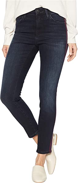 Tess High-Rise Super Skinny in Ink Stripe