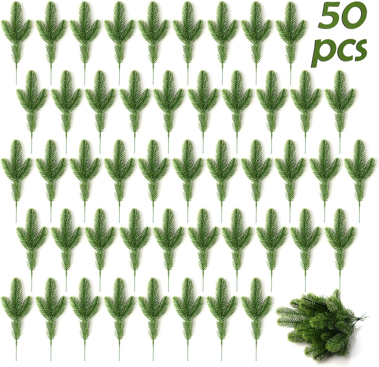Artificial Pine NEW Branches 30 Free shipping anywhere in the nation 50Pcs Christmas Cedar Tree
