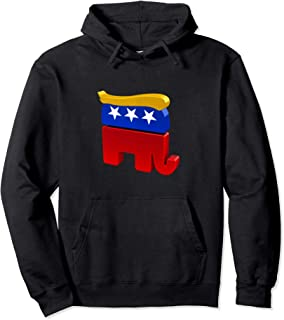 GOP President Donald Trump Hair Republican Elephant Party Pullover Hoodie