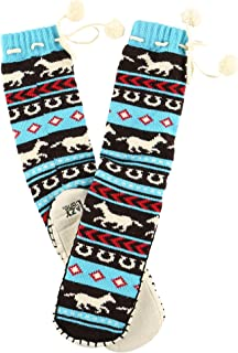 Womens Mukluk Warm Winter Bootie Sock by LazyOne | Cabin Moccasin Socks for Ladies