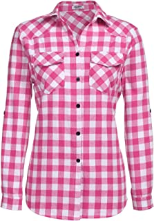 hot pink gingham shirt