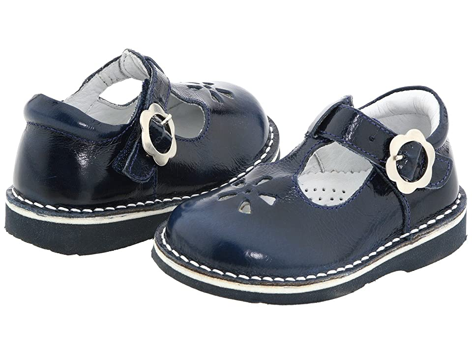 Kid Express Molly (Toddler/Little Kid/Big Kid) (Navy Burnished Leather) Girls Shoes