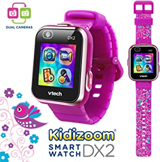 VTech Kidizoom Smartwatch DX2 Special Edition Floral Birds with Bonus Vivid Violet Wristband