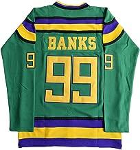 Mighty Ducks Charlie Conway 96, Adam Banks 99, Gordon Bombay 66 ICE Movie Hockey Jersey Green S-3XL